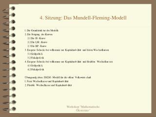 4. Sitzung: Das Mundell-Fleming-Modell
