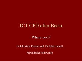 ICT CPD after Becta