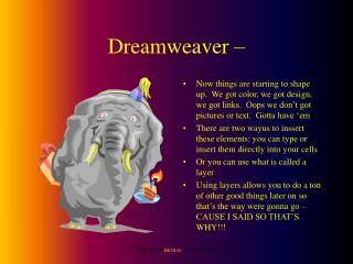 Dreamweaver –