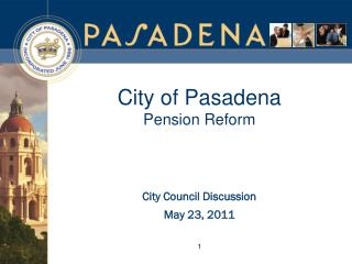 City of Pasadena Pension Reform