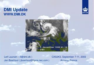 DMI Update WWW.DMI.DK