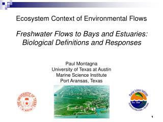 Ecosystem Context of Environmental Flows
