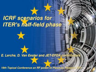 ICRF scenarios for ITER's half-field phase