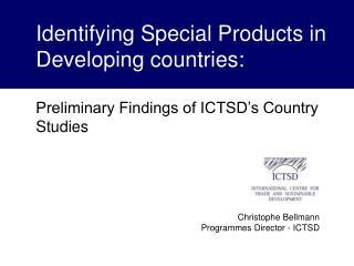 Christophe Bellmann Programmes Director - ICTSD