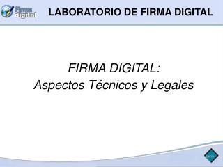 LABORATORIO DE FIRMA DIGITAL