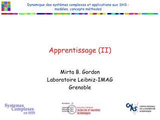 Apprentissage II