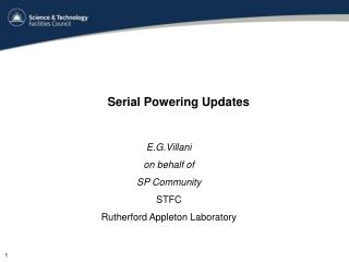 Serial Powering Updates