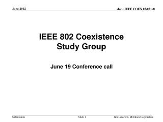 IEEE 802 Coexistence Study Group