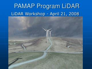PAMAP Program LiDAR