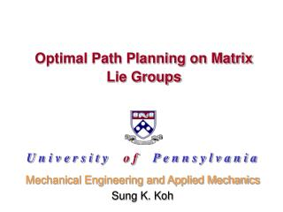 Optimal Path Planning on Matrix Lie Groups