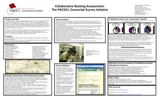 Collaborative Backlog Assessment: The PACSCL Consortial Survey Initiative
