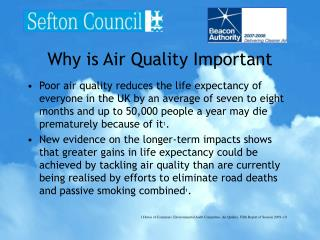 Why is Air Quality Important