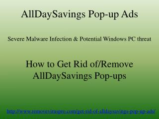 How to Get Rid of AllDaySavings Pop-up Ads Quickly