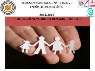 BORUSAN ASIM KOCABIYIK TEKNİK VE ENDÜSTRİ MESLEK LİSESİ  2013/2014