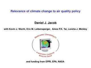 Relevance of climate change to air quality policy