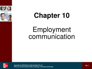 Chapter 10 Employment communication