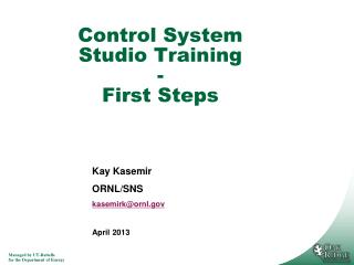 Control System Studio Training - First Steps
