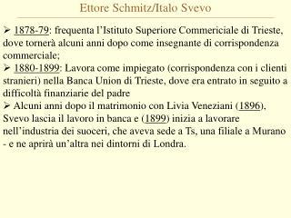 Ettore Schmitz/Italo Svevo