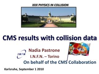 CMS results with collision data