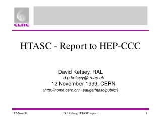 HTASC - Report to HEP-CCC