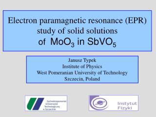 Electron paramagnetic resonance (EPR) study of solid solutions  of MoO 3  in SbVO 5