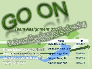 Team Assignment 0 1