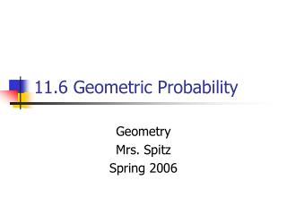 11.6 Geometric Probability