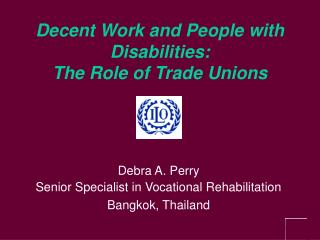 Decent Work and People with Disabilities: The Role of Trade Unions