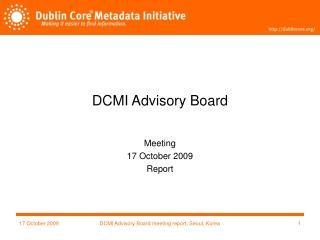 DCMI Advisory Board