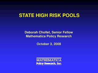STATE HIGH RISK POOLS