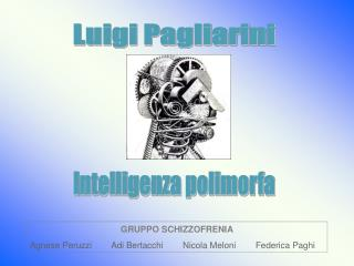 GRUPPO SCHIZZOFRENIA Agnese Peruzzi        Adi Bertacchi        Nicola Meloni        Federica Paghi