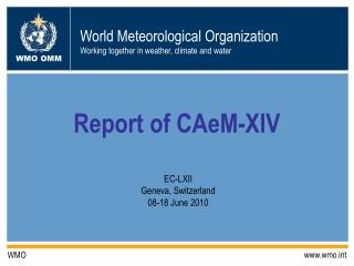 Report of CAeM-XIV