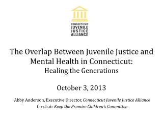 Abby Anderson, Executive Director,  Connecticut Juvenile Justice Alliance