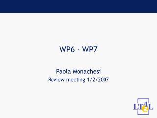 WP6 - WP7