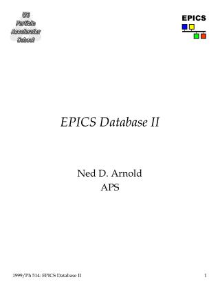 EPICS Database II
