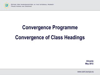 Convergence Programme Convergence of Class Headings