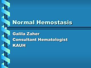 Normal Hemostasis