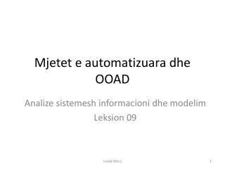 Mjetet e automatizuara dhe OOAD