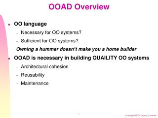 OOAD Overview