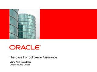The Case For Software Assurance