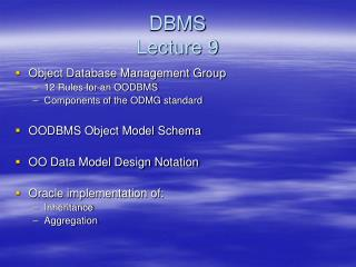 DBMS Lecture 9