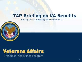 TAP Briefing on VA Benefits