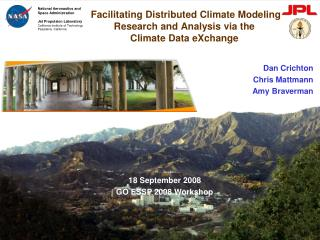 Facilitating Distributed Climate Modeling Research and Analysis via the  Climate Data eXchange