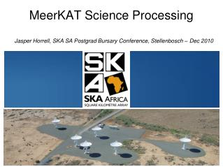 MeerKAT Science Processing