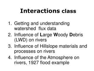 Interactions  class