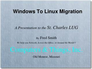 Windows To Linux Migration