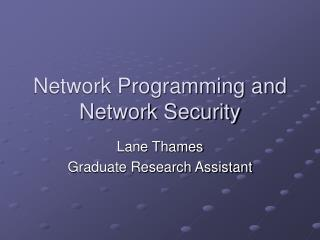 Network Programming and Network Security