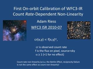First On-orbit Calibration of WFC3-IR  Count  Rate -Dependent Non-Linearity