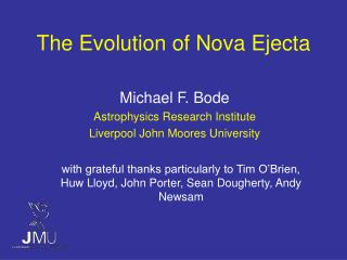 The Evolution of Nova Ejecta