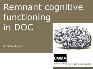 Remnant cognitive functioning  in DOC Dr Schnakers C.